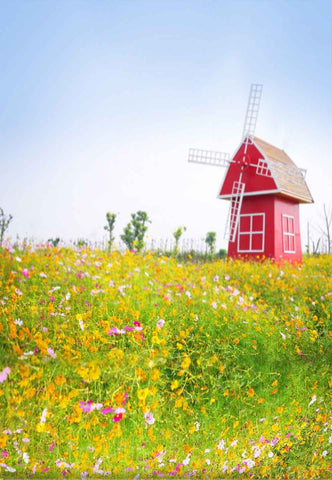Season Backdrops Summer Backgrounds Flower Backdrop Windmill N11488-E