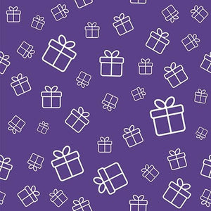 Purple Color Birthday Gift Icon Background Baby Shower Backdrop IBD-19560