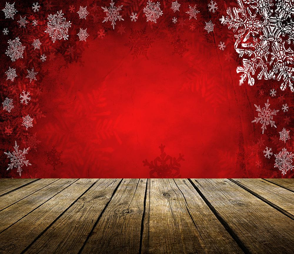 Red Theme Snowflake Background Christmas Backdrops IBD-19380