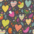 Patterned Backdrops Birds Backgrounds Hearts Backdrops S-2633