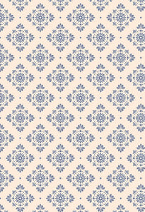Damask Backdrop Blue Background Vintage Backdrop S-2635