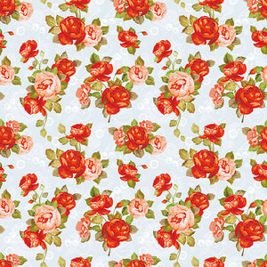 Patterned Backdrop Polka Printed Background Flowers Backdrop S-2636