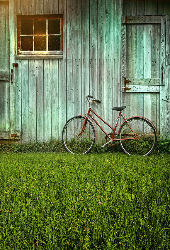 Window And Door Backdrops Green Backdrop Grass Background S-2637