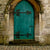 Scenic Backdrops Green Door Window Backdrops Door S-2642