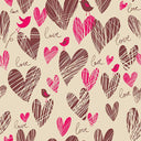 Birds Backdrop Brown Background Hearts Backdrop S-2647 - iBACKDROP