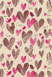 Birds Backdrop Brown Background Hearts Backdrop S-2647