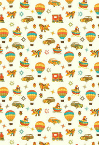 Yellow Backdrop Cartoon Background Cars Backdrop S-2650