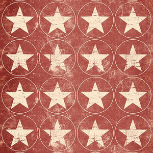 Circles Backdrop Red Background Stars Backdrops S-2658