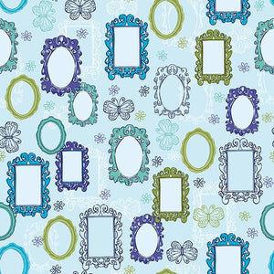 Polka Dot Printed Backdrop Blue Background Mirror Backdrop S-2667