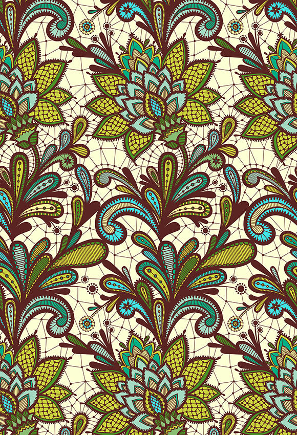 Patterned Backdrops Flower Backgrounds Green Backdrop S-2678