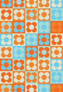 Patterned Backdrops Plaid Background Flowers Backdrop S-2681