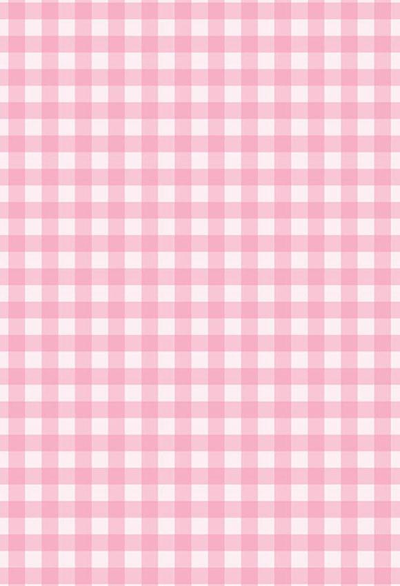 Plaid Backdrop Pink Background S-2828