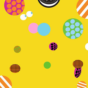 Polka Dot Printed Backdrops Backdrops Circles Backgrounds Yellow Backdrop S-2838