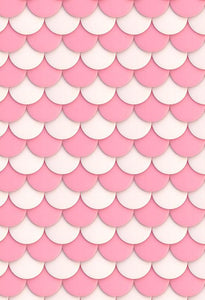 Polka Dot Printed Backdrops White Backdrop Pink Flower S-2841