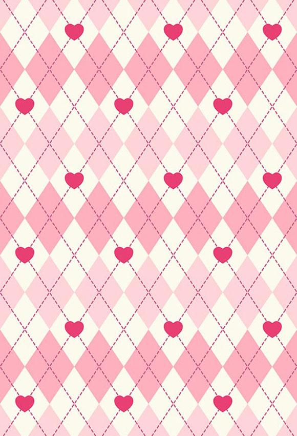 Plaid Backdrop Pink Background S-2835
