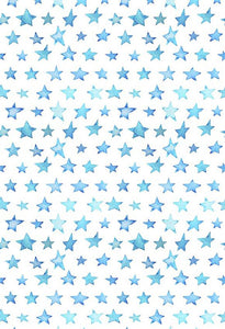 Polka Dot Printed Backgrounds Stars Backdrop Blue Backdrop S-2847