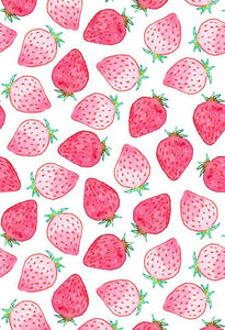 Polka Dot Printed Backdrops Strawberry Backdrop Pink Backgrounds S-2849