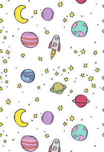 Polka Dot Printed Backgrounds Stars Backdrops Planets Backdrop S-2826