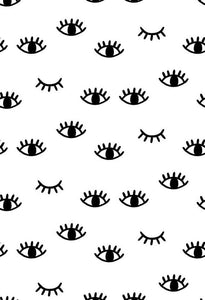 Polka Dot Printed Backdrop Eyes Backdrop White Backgrounds S-2867