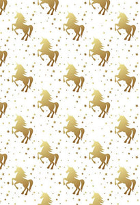 Polka Dot Printed Backdrop Unicorns Backdrop White Background S-2868