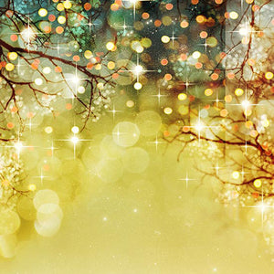 Glitter Patterned Backdrops Trees Backgrounds Yellow Backdrop S-2911
