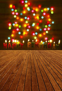 Birthday Party Background Candles Backdrop Lights S-2922