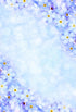 Patterned Backdrops Flower Backgrounds Blue Backdrop S-2982