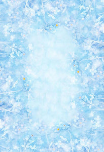Backdrops Flower Exhibit Backdrops Blue Backgrounds S-2990