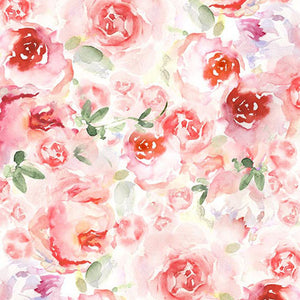 Patterned Backdrops Flower Backdrops Red Rose Backgrounds S-2999