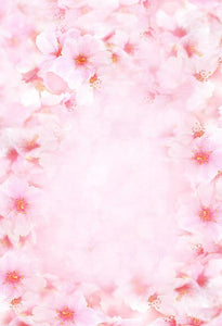 Patterned Backdrops Flowers Background Pink Backdrop S-3002