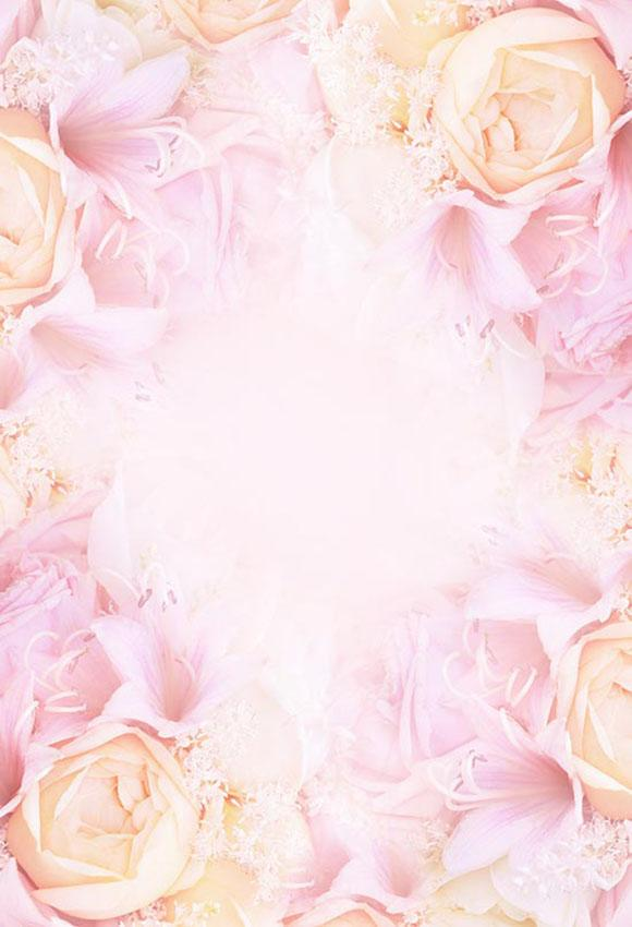 Flowers Backdrop Pink Backgrounds S-3006