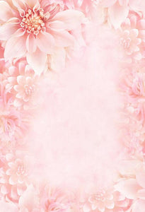 Flowers Backdrops Pink Backdrop S-3008