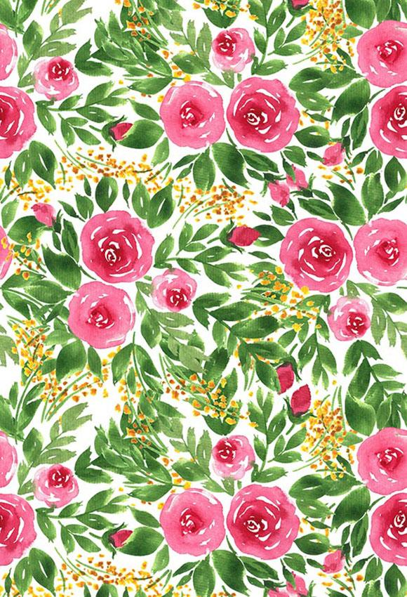 Flowers Backdrops Green Backdrops Pink Background S-3011
