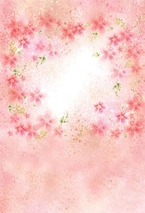 Flowers Backgrounds Pink Backdrops S-3020