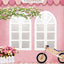 Window And Door Backdrops Pink Backdrop Bike Background S-3025