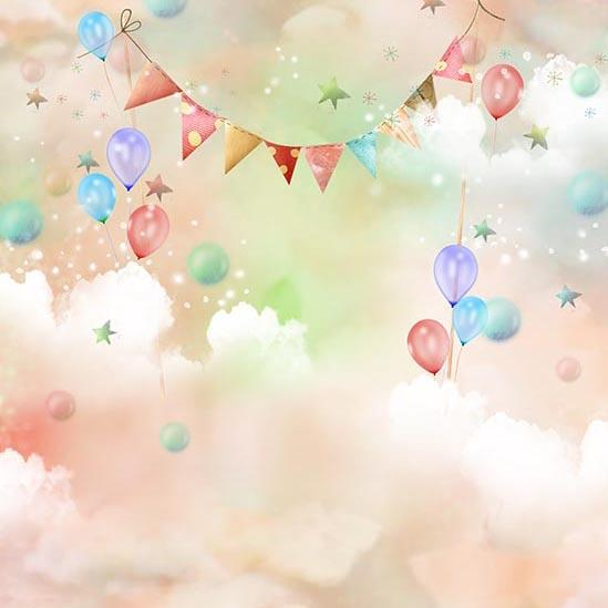 Themed Patterned Backgrounds Balloon Backdrop S-3042 - iBACKDROP