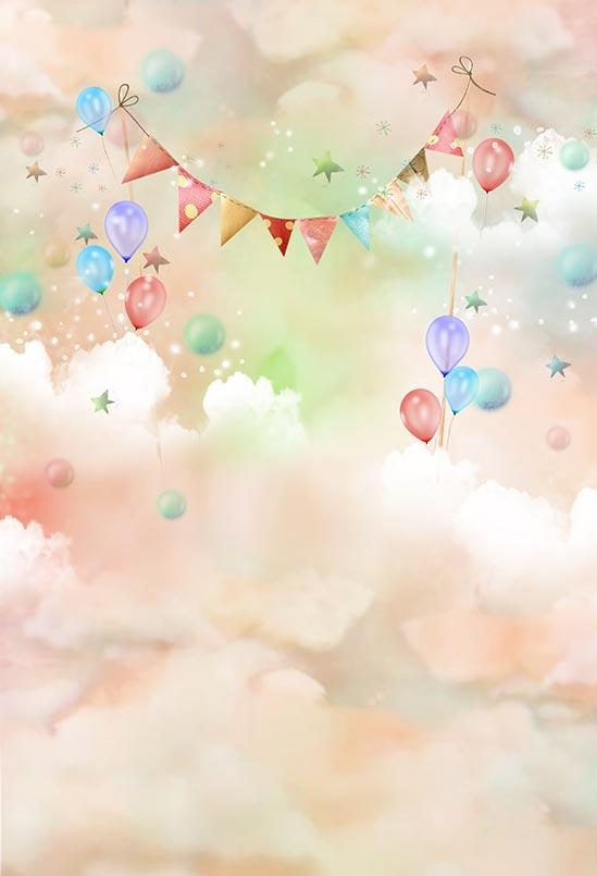 Themed Patterned Backgrounds Balloon Backdrop S-3042