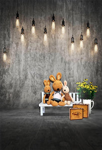 Easter Backgrounds Lights Backdrop Backdrops Rabbit S-3056