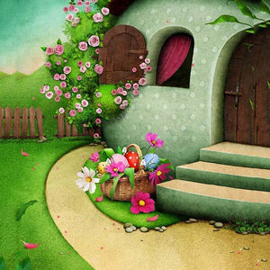 Baby Backdrops Cartoon Fairytale Backdrops Forest Background S-3074