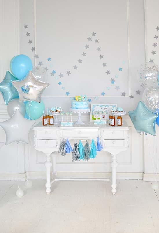Birthday Party Background Balloons Backdrop Blue Backdrop S-3083