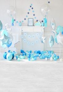 Birthday Party Background Balloons Backdrop Cake Backdrops S-3086