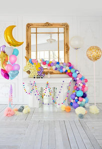 Birthday Party Background Cake Backdrops Colored Backdrops S-3088
