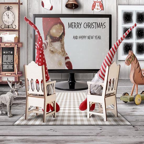 Festival Backdrops Christmas Background Chairs Background S-3098