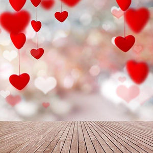 Patterned Backdrops Hearts Backdrops Painting Backgrounds S-3113
