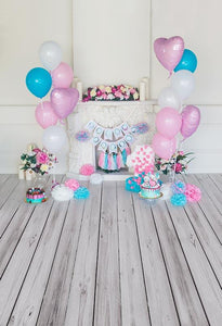 Birthday Background Balloons Backdrop Pink And Blue Backdrop S-3138