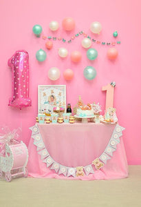 Baby Backdrops Food Backdrops Cake Background Bunting on Wall S-3140