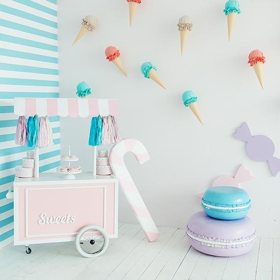 Baby Backdrops Food Backdrops Photography Bunting Background S-3142 - iBACKDROP-Baby Kid Backdrops, Cute Backdrops, Food Backdrops, Food Photography Backdrops