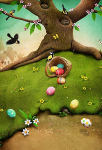 Patterned Backdrops Colored Eggs Background Easter Backdrops S-3185