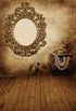 Brown Backdrop Wooden Backgrounds Beautiful Vintage Backdrops Mirror S-3202
