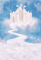 Castle Backdrops Sky Backdrops White And Blue Backgrounds S-3215